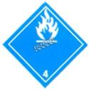 Dangereux au contact de l'humidité, classe 4, placard, 10 3/4 po x 10 3/4 po.