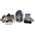 Ensemble Versaflo complet pour épuration d'air motorisé en milieu industriel de 3M. Casque dur et facteur de protection de 25.