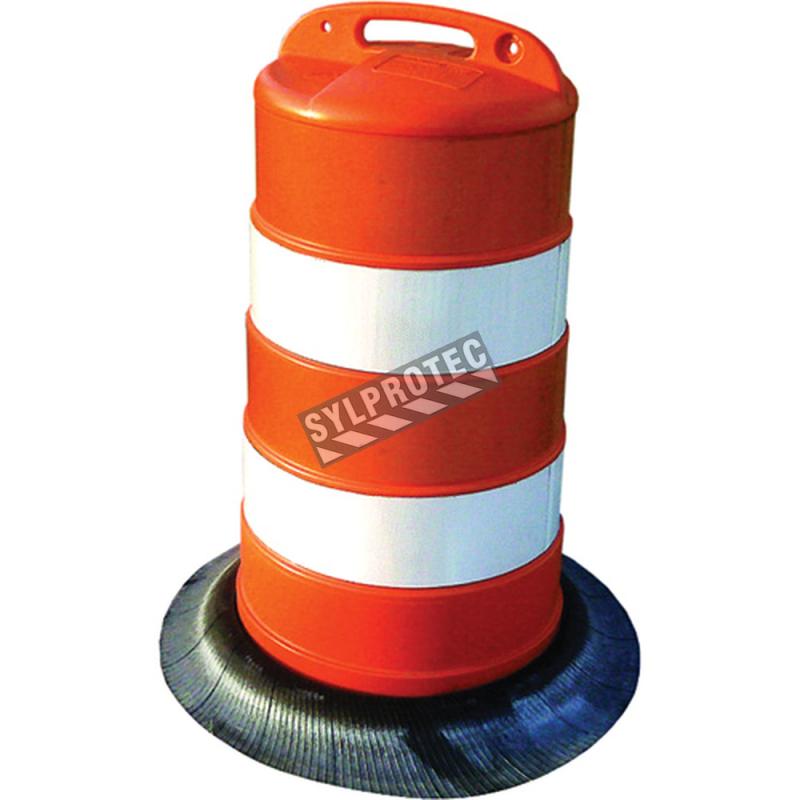 Baril (cône) pour canalisation de trafic.
