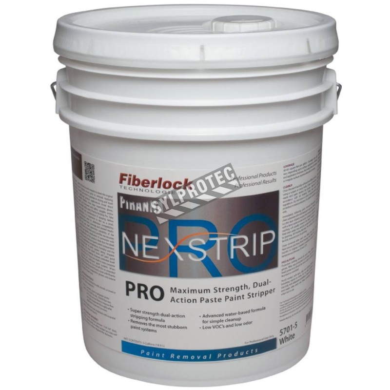 Piranha NexStrip Pro paste paint remover, 5 gallons (19 liters), can be used to remove lead-based paint.