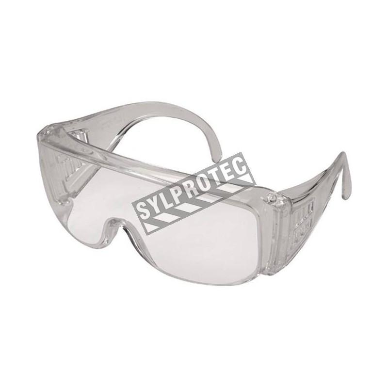 Lunettes de protection ZENITH, monture et lentilles claires avec protection contre UV, approuvées CSA.