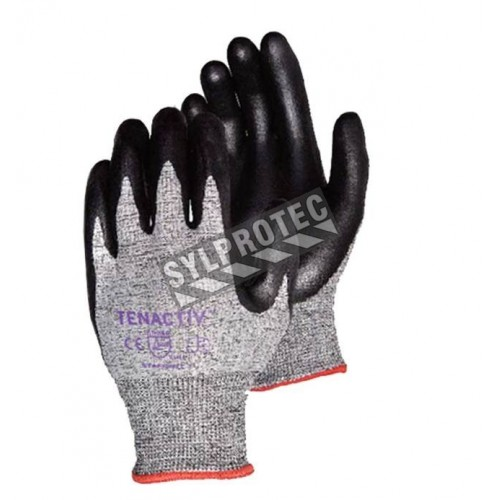 TenActiv™ cut-resistant ASTM/ANSI level A4 composite-knit glove with foam nitrile coating. Sold in pairs.