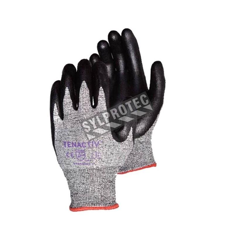 Gant anti-coupure ASTM/ANSI A4 TenActiv™ en composite anti-coupure enduit de mousse de nitrile