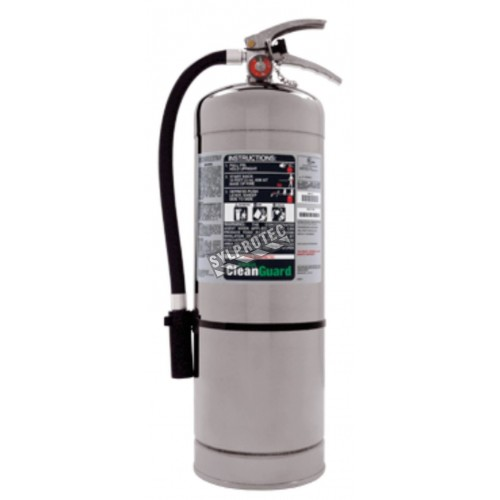 Non-magnetic FE36 portable fire extinguisher, 13.25 lbs, type ABC, ULC 1A-10BC, with wall hook. For MRI.
