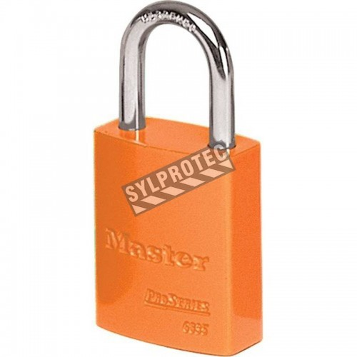 Cadenas en aluminium Master Lock, de couleur orange