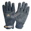 Impacto AirGloves silicone dotted synthetic suede, mesh & urethane air bladders padding antivibration gloves. Sold in pairs.