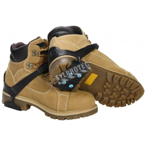 Snow and ice heel traction aids, for all types of flat shoes and winter boots.