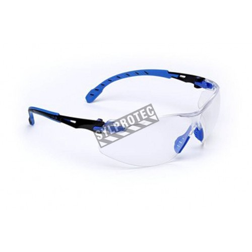 Lunettes Solus de 3M monture noir/bleu, lentille claire