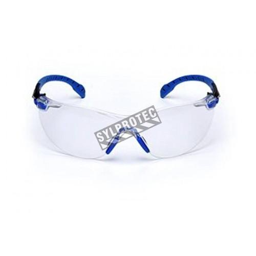 3M eyeglasse model Solus black/bleu frame, clear lens