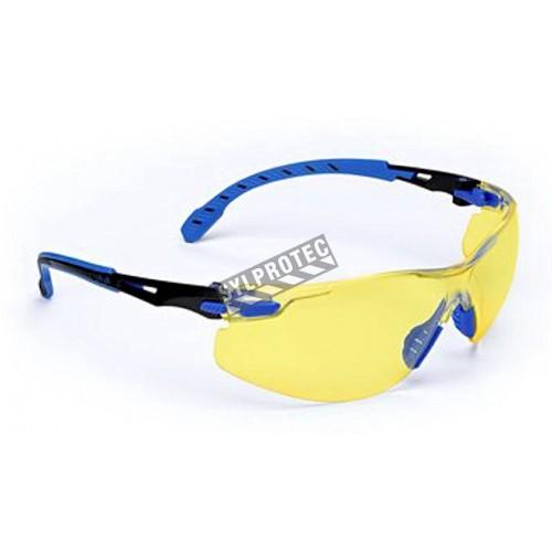 Lunettes Solus de 3M monture noir/bleu, lentille ambre