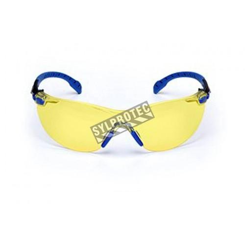 3M eyeglasse model Solus black/bleu frame, amber lens