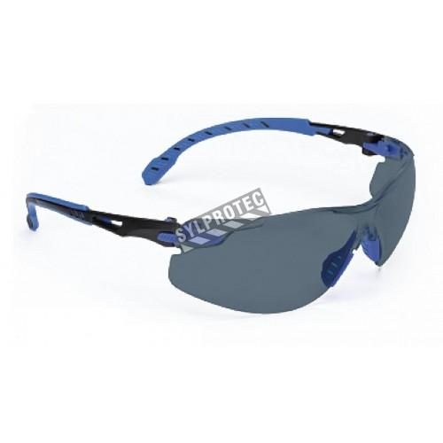 Lunettes Solus de 3M monture noir/bleu, lentille grise