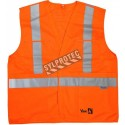 Orange trafic sash complies with silver stripes Class 2, Level 2