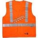 Veste de circulation orange avec bandes argentés classe 2, niveau 2, ignifuge