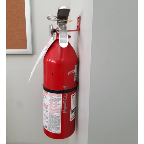 Wall hanger for Amerex chemical powder extinguishers, 5 to 6 lbs