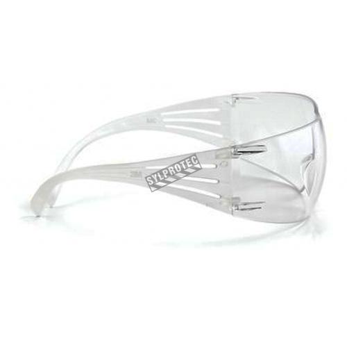 Lunette de sécurité SecureFit pour protection oculaire de 3M. Lentille claire antibuée pour protection contre les éblouissements