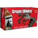 Grease Monkey 5 mil powder-free black nitrile disposable gloves, CFIA approved. Sizes M (8) to XXL (11). 100 gloves/box.