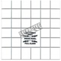 Replacement plastic panel for cover of fire alarm pull station