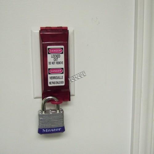 Dispositif de verrouillage pour interrupteur électrique.