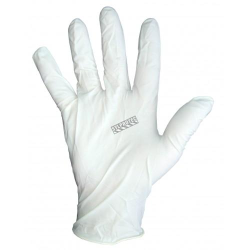 Latex glove powder free, 3 mil. bt/100 un. large