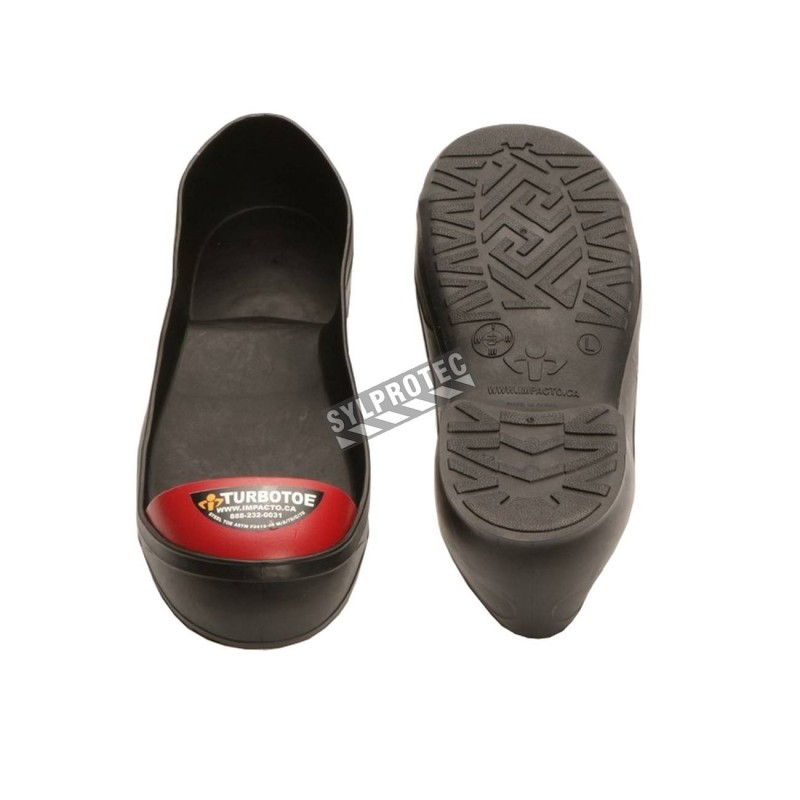 TurboToe PVC shoe covers with steel toe caps, certified CSA Z195-09.