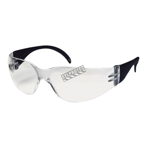 Cee Tec protective eyewear, clear polycarbonate lenses. CSA approved for impact protection.