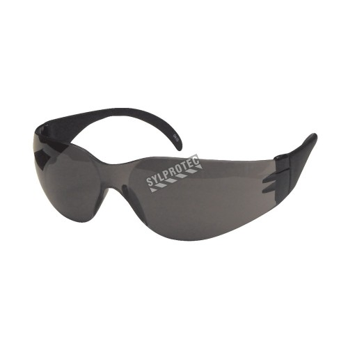 Cee Tec protective eyewear, grey polycarbonate lenses. CSA approved for impact protection.