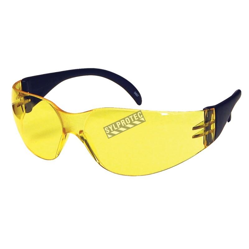Lunette de sécurité Cee Tec, lentille de polycarbonate jaune. Homologué CSA.