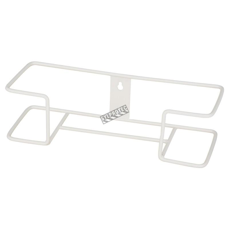 Distributeur en acrylique transparent à 2 compartiments pour boîtes de gants, pour installation murale ou sur une table.