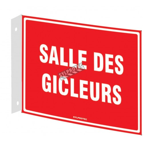 "French emergency ""Sprinkler room"" sign in various sizes, shapes, materials & languages + optional features"