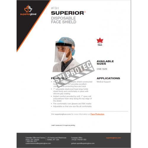 Visière en polycarbonate transparent pour une protection faciale sur mesure. Compatible avec tous les porte-visières de 3M.