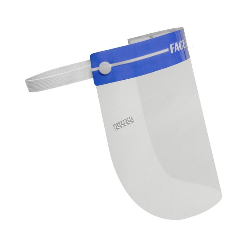 Visière transparent jetable pour une protection faciale.