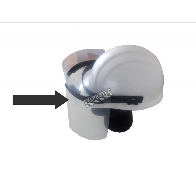 Replacement Visor for  YV50 SeT,  made in Quebec