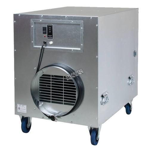 Purificateur d'air portable HEPA-AIRE deluxe à 2 vitesses. Débit de 1050 cfm ou 1600 cfm pour désamiantage et décontamination