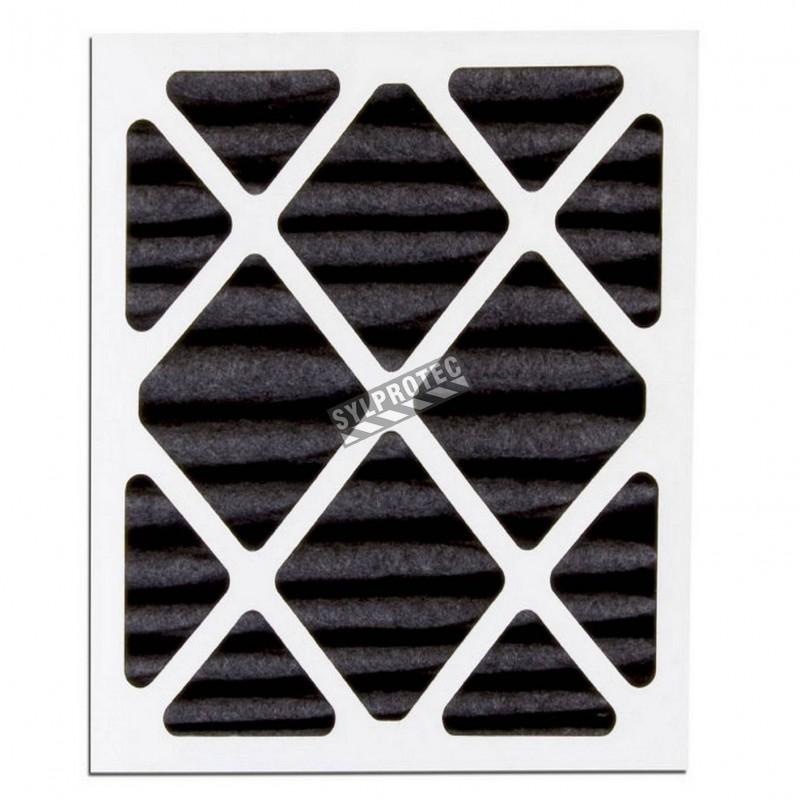 """Filtre optionel pour vapeur organique conçu pour machines HEPA-AIRE (SAH5) Filtre 18""""X24""""X2"""" pour particule de 3 µm à 10 µm"""
