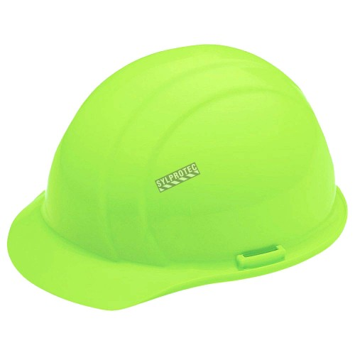 Dentec Safety Liberty hard hat CSA type 1 class E approved equipped with a swivel head suspension for flagmen