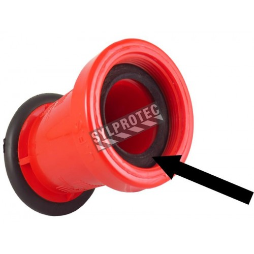 Watertight seal for 1.5 in nozzle