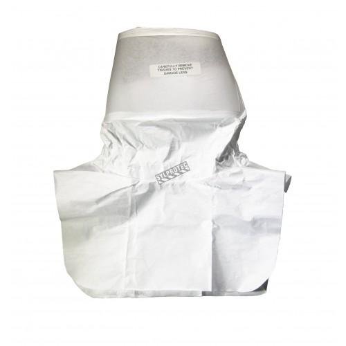 Cagoule de remplacement blanche en Tyvek® pour cagoule Allegro RA9910, taille unique, à l'unité. No. 9910-10.