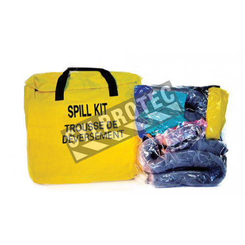 Compact universal spill kit for trucks.