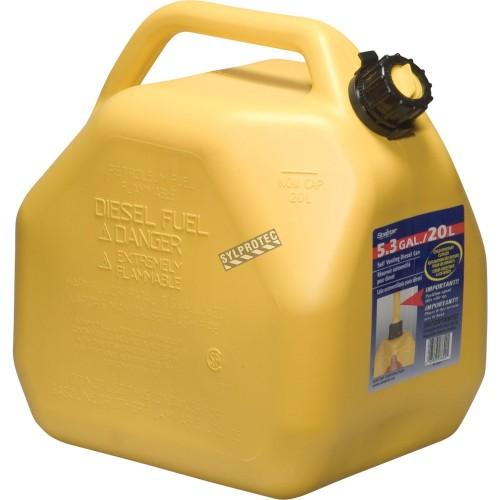 Bidons pour essence avec bec verseur 5 litres