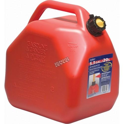 Bidons pour essence avec bec verseur 5 gal. US/20 L
