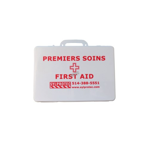 First aid kit conforming to CAN/CSA Z1220-17 low risk for 25 workers and less
