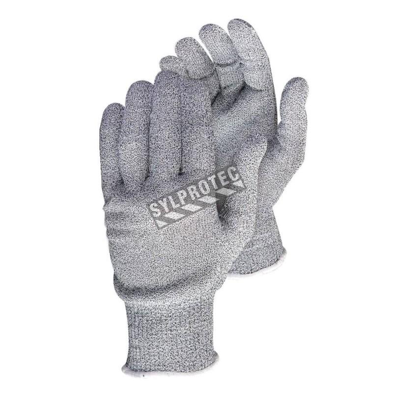 Gants anti-coupure niveau A5 SureKnit™ en tricot de Dyneema, de Spandex et de fil d'acier compatible avec écrans tactiles.