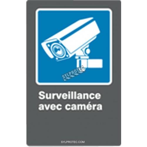 Affiche CDN «Surveillance avec caméra» de langue française: formats variés, matériaux divers, d'autres langues & options