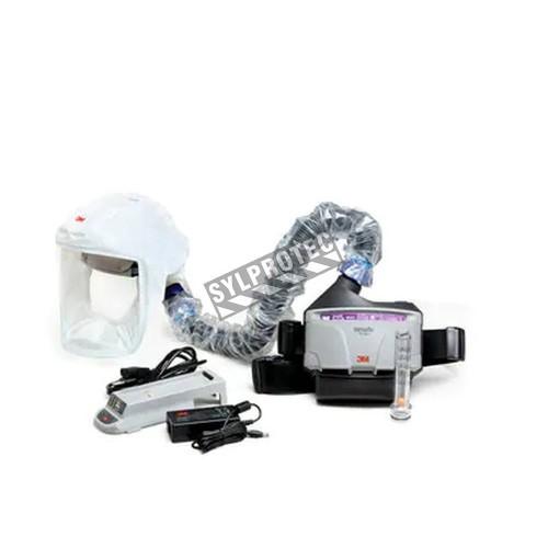 Ensemble Versaflo complet pour épuration d'air motorisé en milieu pharmaceutique et médical de 3M. Facteur de protection de 25.