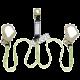 Longe  en «Y» de Peakworks avec cordon amortisseur interne intégré et 2 mousquetons  pour échafaudage, 110-220 lb.