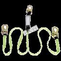 Longe  en «Y» par Peakworks avec cordon amortisseur et 2 mousquetons standard, 110-220 lb..