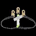 Longe en «Y» par Peakworks avec cordon amortisseur et 2 mousquetons standard, 200-350 lb.