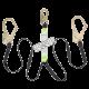 Longe en «Y» par Peakworks avec cordon amortisseur et 2 mousquetons pour échafaudage, 200-350 lb.