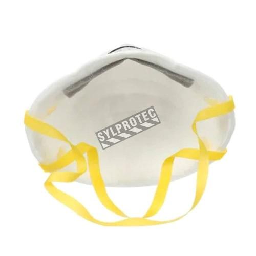 Masque respiratoire N95, de 3M. Efficace contre particules solides & liquides non huileuses.